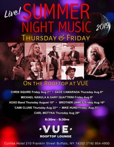 August live music lineup at VUE Buffalo